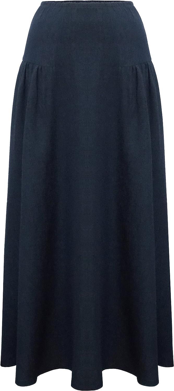 Baby'O Women's Ankle Length Denim Eyelash Skirt