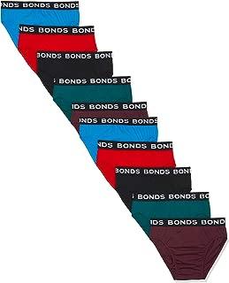 Bonds Men's Underwear Hipster Brief, 10 Pack