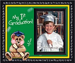 Pre-k Kindergarten Preschool Graduation Picture Frame | Affordable Colorful and Fun | Holds 3.5 x 5 Photo | Keepsake Gift for Parents | Innovative Front-Loading Photo | Bear Design
