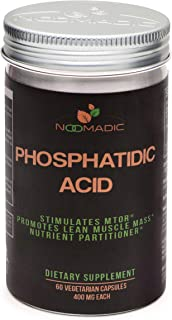 Phosphatidic Acid (PA), 60 Capsules   400mg Each, Natural Anabolic, Lean Mass Gainer, Muscle Builder, Protein Synthesis Bo...