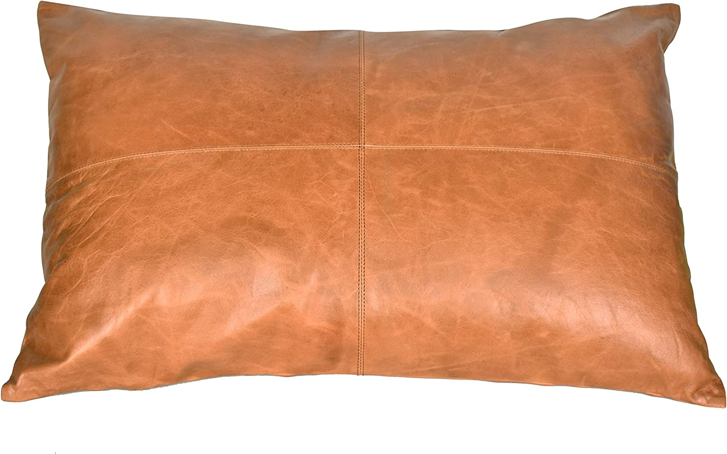 Azrah Traders 100% Lambskin Leather New arrival Sofa Pillow Cover Cushion - Minneapolis Mall