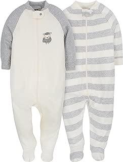 Baby Girls' 2-Pack Organic Sleep 'N Play