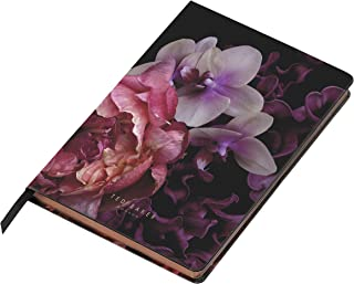 Ted Baker Soft Touch Splendor Black Floral 192 Lined Page A5 Notebook, Black (ATED511)