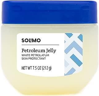 Amazon Brand - Solimo Petroleum Jelly White Petrolatum Skin Protectant, Unscented, 7.5 Ounce