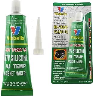 Visbella - Sellador de silicona para electrodomésticos, resistente a altas temperaturas, resistente al calor, de -80 ºF a 500 ºF (transparente)