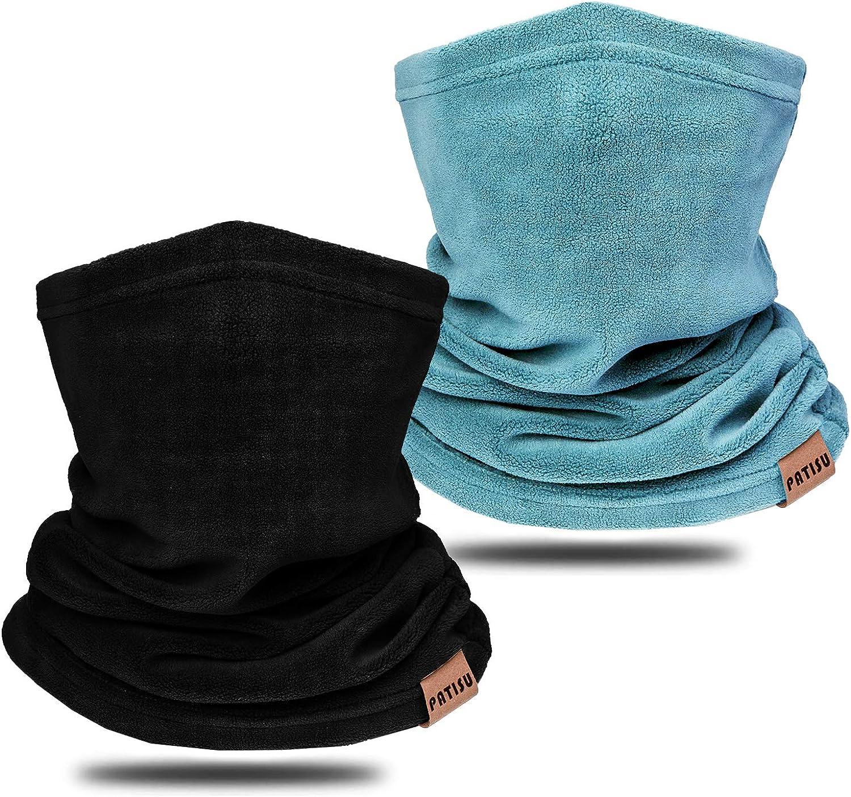 Neck Warmer Winter Neck Gaiter Face Mask Balaclavas for Women Men, Soft Fleece Face Cover Mask for Skiing Motorcycle-2 Pack