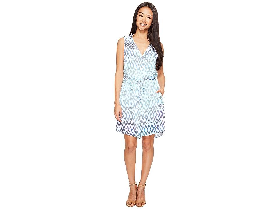Hatley Split-Neck Shirtdress (Sunbleached Ikat) Women