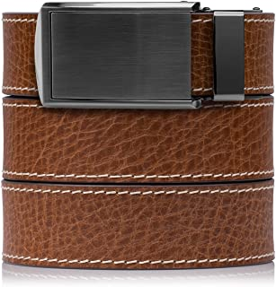 SlideBelts Full Grain Leather Belt with Contrast Stitching - Custom Fit