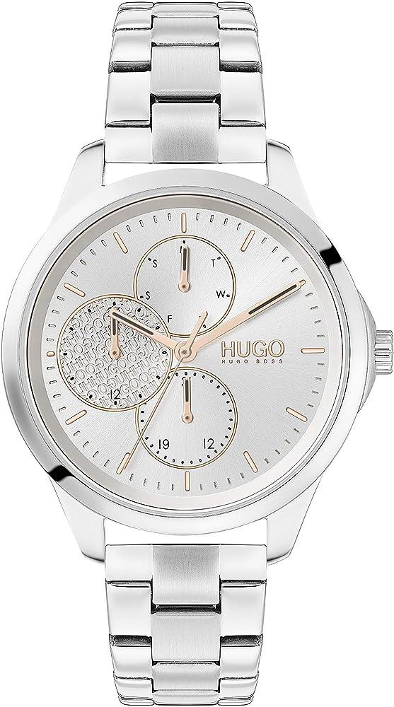 hugo boss, orologio, cronografo per donna, in acciaio inossidabile 1540048