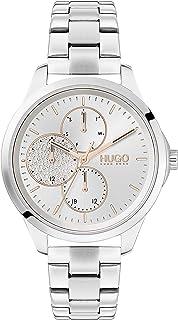 HUGO Reloj Analógico para Mujer de Cuarzo con Correa en Acero Inoxidable 1540048