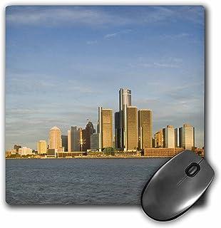 3dRose LLC 8 x 8 x 0.25 Inches Michigan Detroit Renaissance Center and GM Walter Bibikow Mouse Pad (mp_91233_1)
