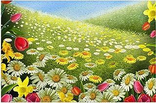 Tapis de Sol 丨 Flower Garden Art Paillasson en PVC antidérapant Tapis d'extérieur Paillasson de Bienvenue, Convient pour l...