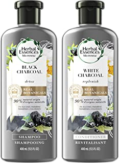 Herbal Essences, Shampoo and Conditioner Kit With Natural Source Ingredients, Color Safe, BioRenew Detox Charcoal, 13.5 fl...