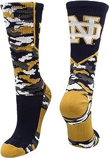 TCK University of Notre Dame Socks Fighting Irish Woodland Camo Crew Length