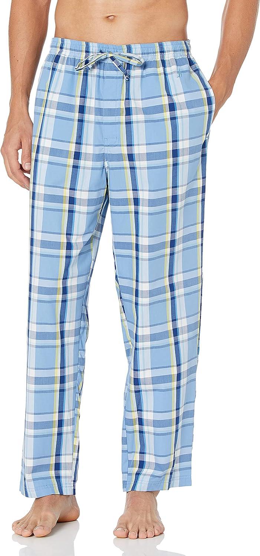 Nautica Pantalón de pijama de algodón 100% elástico para hombre