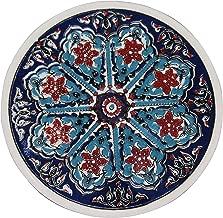 Turkceramics Hand-Crafted Turkish Round Ceramic Coaster (9 cm x 9 cm x 0.5 cm, OMMC9C-MIX2)