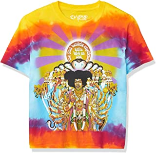 Liquid Blue Jimi Hendrix Asix Bold as Love Tie Dye T-Shirt, Multi, Small