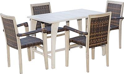 Amazon.com: Benzara BM181290 - Juego de mesa de comedor ...