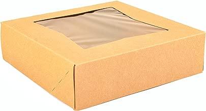 Southern Champion Tray 24133K Kraft Paperboard Window Bakery Box, 9