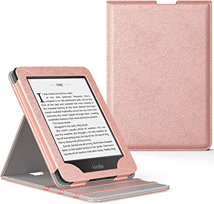 MoKo Case Fits Kindle Paperwhite (10th Generation, 2018 Releases), Premium Vertical Flip Cover with Auto Wake/Sleep Compatible for Amazon Kindle Paperwhite 2018 E-Reader - Rose Gold