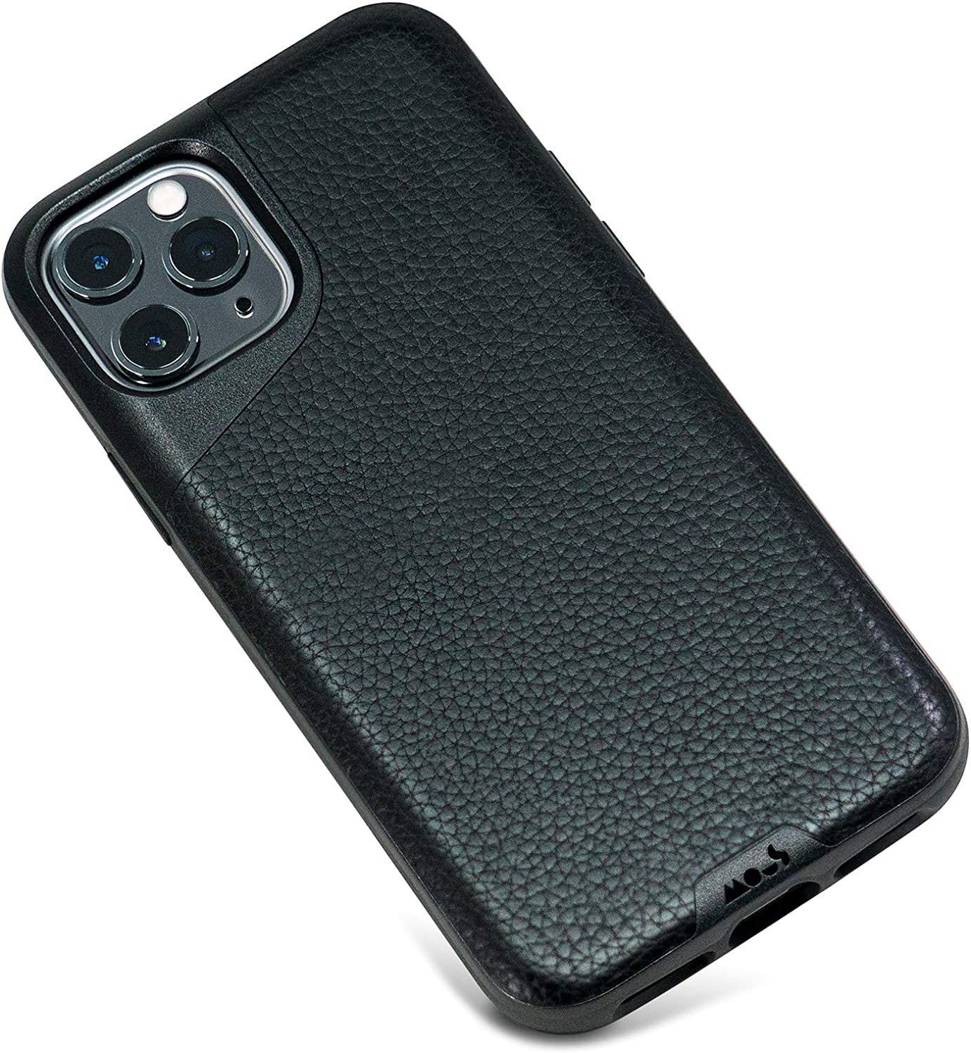 Mous - Protective Case for iPhone 11 Pro Max - Contour - Black Leather - No Screen Protector