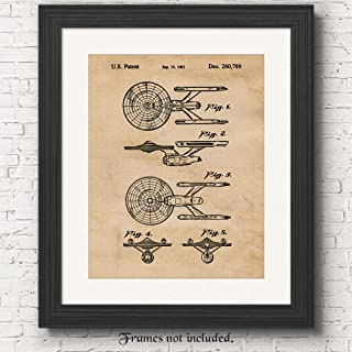 Original Star Trek Patent Poster Prints, Set of 1 (11x14) Unframed Photo, Wall Art Decor Gifts Under 15 for Home, Office, Garage, Man Cave, Shop, College Student, Teacher, Comic-Con & Movies Fan