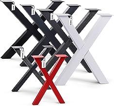 HOLZBRINK Tafelpoot vorm X met gesloten profielen 60x60 mm, tafelvoet 60x72 cm, Diep zwart, HLT-03-G-CC-9005