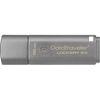 Kingston Digital 16GB Data Traveler Locker + G3, USB 3.0 with Personal Data Security and Automatic Cloud Backup (DTLPG3/16GB)