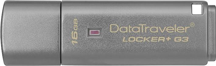 Kingston DTLPG3/16GB Data Traveler Locker + G3, Memoria USB 3.0  con protección de datos personales, copia de seguridad automática en la nube