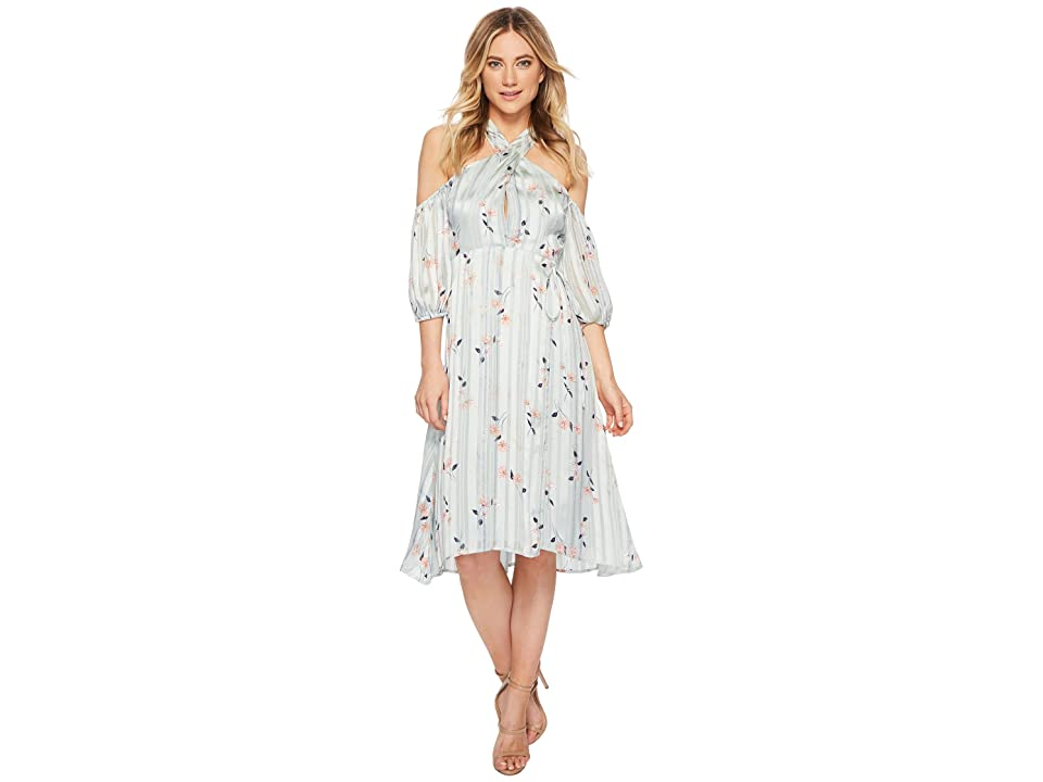 ASTR the Label Nicole Dress (Mint Satin Floral) Women