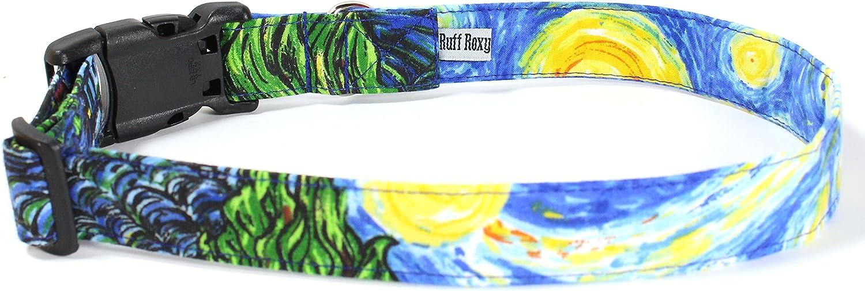 Masterpaws Designer Cotton Dog Collar, Adjustable Handmade Fabric Collars (L)