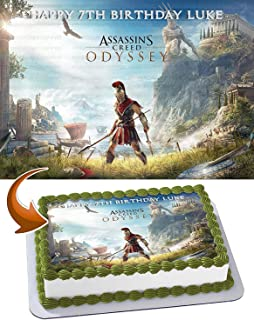 Assassin's Creed Odyssey - Edible Cake Topper - 11.7 x 17.5 Inches 1/2 Sheet rectangular (Best Quality Printing)