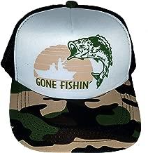 ThatsRad 7-12 Year Kid's Gone Fishin' Fishing Camouflage Camo Snapback Mesh Trucker Hat Cap …