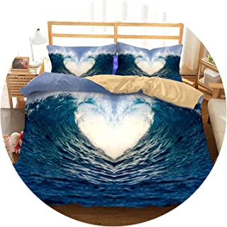 3D Bedding Set Sea Wave Print Duvet Cover Set Twin Queen King Lifelike Bedclothes with Pillowcase Bed Set Home Textiles #2-13,15,AU King,China