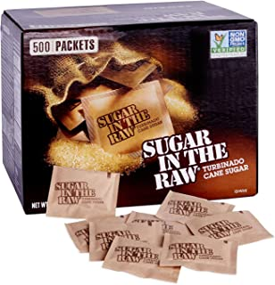 Sugar In The Raw Natural Cane Turbinado Sugar 4.5 g. (1 Pack 500ct)
