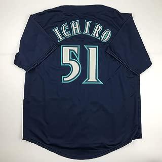 Unsigned Ichiro Suzuki Seattle Blue Custom Stitched Baseball Jersey Size Men's XL New No Brands/Logos