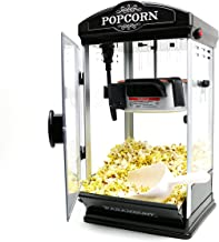 Popcorn Maker Machine by Paramount - New 8oz Capacity Hot-Oil Popper [Color: Black]