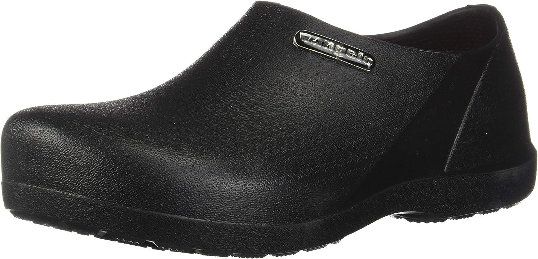 VANGELO Professional Slip Resistant Clog Men Work Shoe Nurse Shoe Chef Shoe Carlisle Black White Lime Multi Color