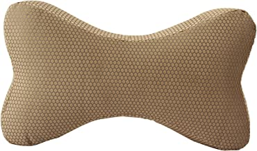 "Magasin Memory Foam Head Rest Cushion - 12"" x 6"", Golden"