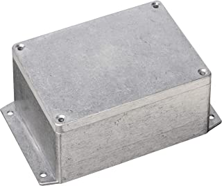 BUD Industries AN-2855-A IP68 Aluminum 5.83x4.25x2.95 enclosure with molded in mounting brackets, Natural
