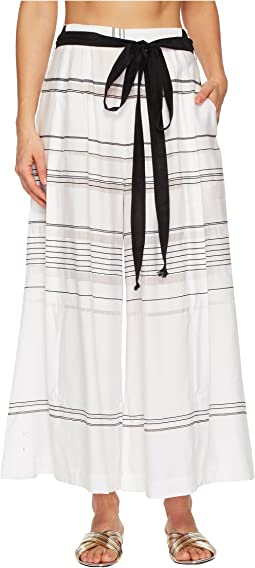Proenza Schouler Striped Thin Palazzo Pants Cover-Up
