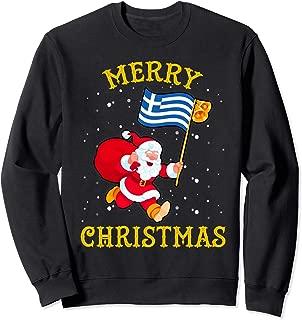 Santa Greece Merry Christmas Xmas Sweatshirt