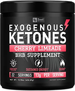 Pure Exogenous Ketones BHB Powder | Cherry Limeade (13g | 22 Servings) Best Tasting Keto Drink with BHB Salts Beta Hydroxybutyrate Supplement - Keto Powder for Weight Loss, Energy & Ignite Ketosis