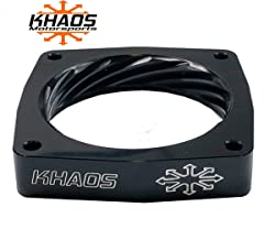 Khaos Motorsports Helix Throttle Body Spacer Compatible With Dodge Charger/Challenger / 300 / Jeep/Chrysler HEMI 5.7L 6.1L 6.4L Anodized Black