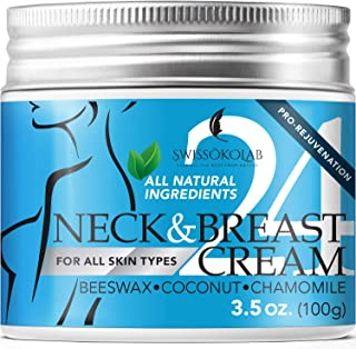 All Natural Neck Firming Cream Anti Aging Moisturizer for Breast Chest & Decollete Anti Wrinkle Cream Saggy Neck Skin Tigh...