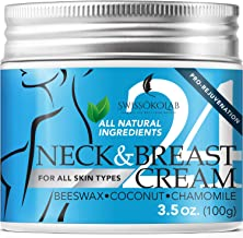 All Natural Neck Firming Cream Anti Aging Moisturizer for Breast Chest & Decollete..