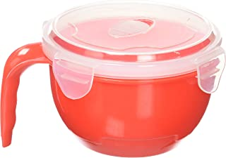 Innovia Imports II-163 Noodle Soup Bowls, Red and Blue