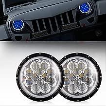 u-Box Jeep TJ JK Headlights 7inch Halo LED w/Blue DRL Angel Eyes for 1997-2018 Jeep Wrangler