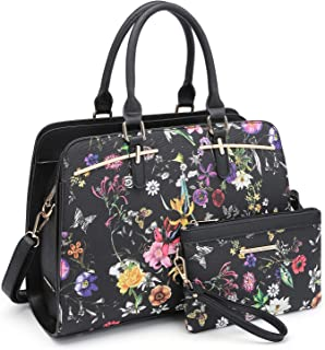 floral satchel bag