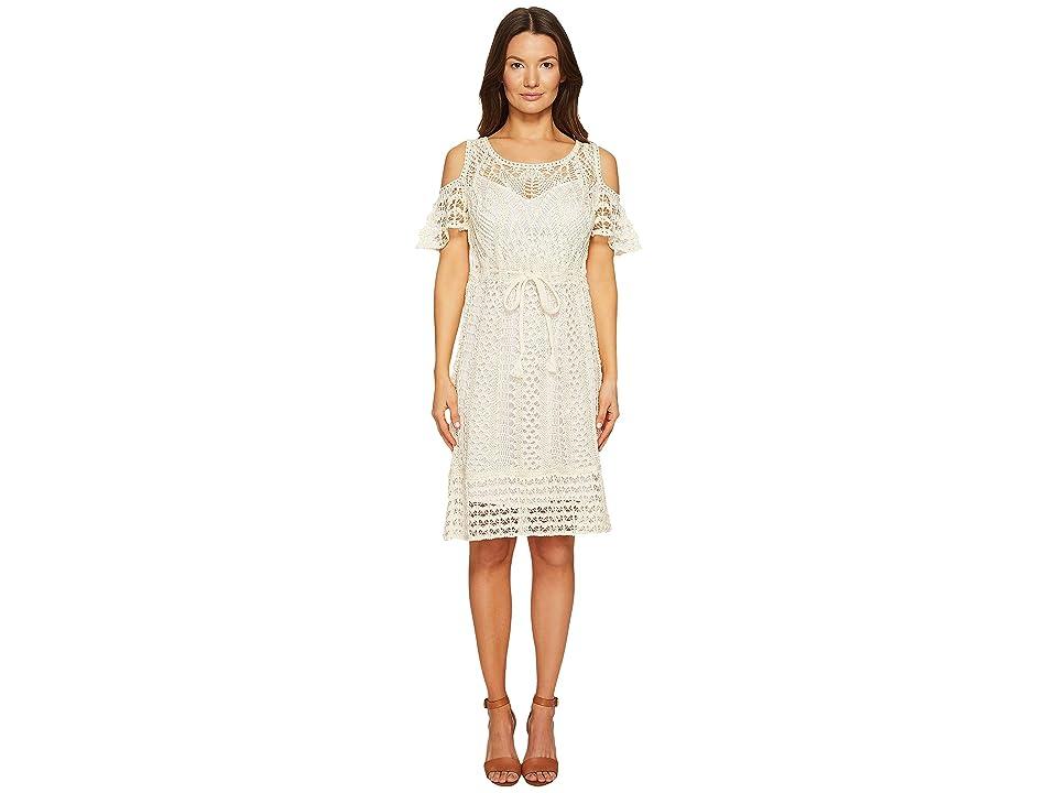 See by Chloe Crochet Drawstring Dress (Natural White) Women